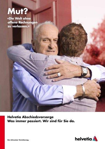 Folder - Abschiedsvorsorge - Helvetia