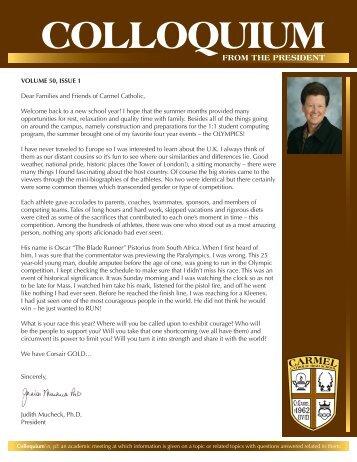 Volume 50, Issue 1 - Carmel Catholic High School