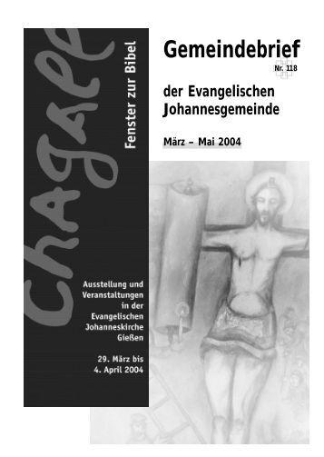 Gemeindebrief Maerz 2004