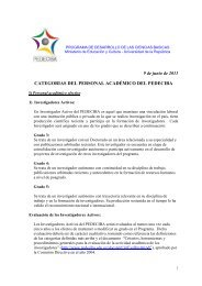 Reglamento personal academico PEDECIBA 2011