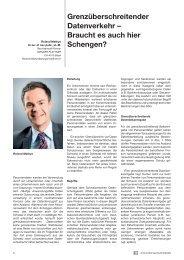 Grenzüberschreitender Datenverkehr – Braucht ... - Wenger Plattner
