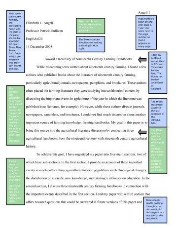 mla format of paper