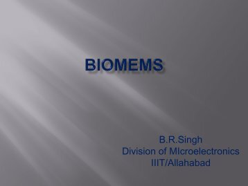 BioMEMS - Disputationes