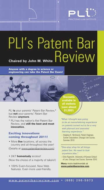 PLI's Patent Bar - Practising Law Institute