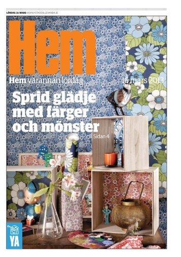 Hem varannan lördag 16 mars 2013 - Kristianstadsbladet