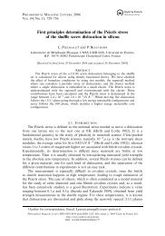First principles determination of the Peierls ... - Laurent Pizzagalli