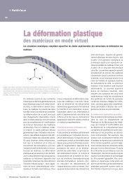 La déformation plastique - Laurent Pizzagalli