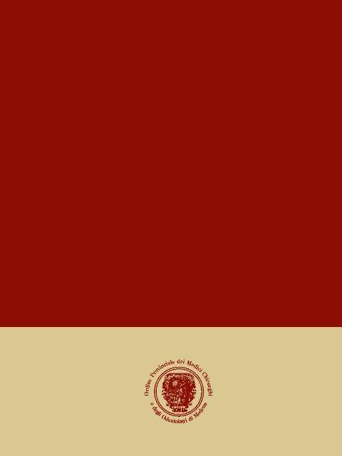 Settembre - Ottobre 2009 - Ordine Provinciale dei Medici Chirurghi e ...