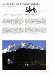 Der Pilatus - ein Berg mit Geschichte