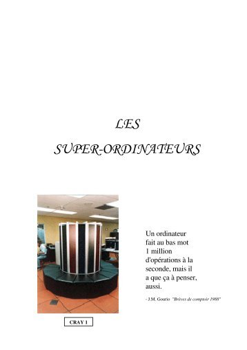 LES SUPER-ORDINATEURS - IUT Bayonne