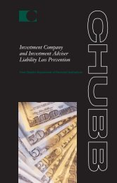 Investment Company and Investment Adviser Liability Loss Prevention