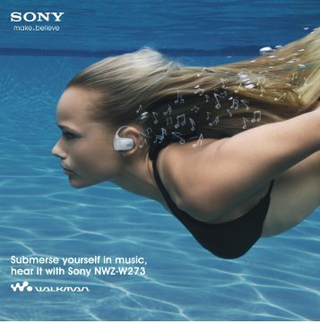 Walkman Brochure - Sony