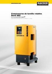 Compresores de tornillo Serie SXC - Kaeser - Kaeser Kompressoren