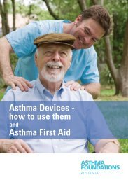 Asthma First Aid Asthma Devices - how to use them