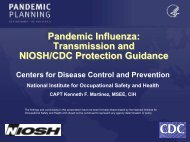 Pandemic Flu: Transmission and Protection Guidance