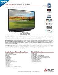 734 Series   1080p DLP® HDTV - Mitsubishi