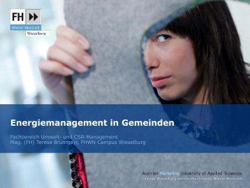Energiemanagement in Gemeinden