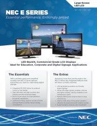NEC E Series displays - NEC Display Solutions