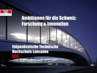 EPFL - Standortförderung Kanton Bern