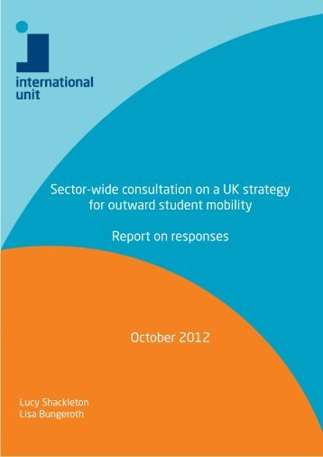 Sector-wide consultation on a UK strategy for ... - International Unit