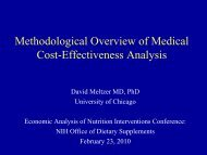 Methodological Overview of Medical Cost-Effectiveness Analysis