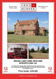 450000 BROAD LANE FARM, NEWLAND ... - Grice & Hunter