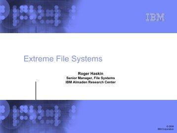 2 PB GPFS file system