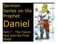 Daniel 10 - Congregation Yeshuat Yisrael