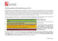 Adult Nursing Branch Skills Guidelines (years 2 & 3)