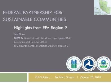 US EPA, Region 9 Sustainable Communities Activities - Rail~Volution