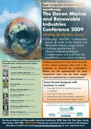 The Devon Marine and Renewable Industries Conference ... - SWMAS