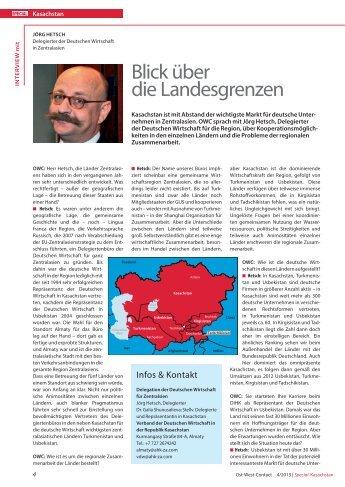 PDF des Interviews - AHK Zentralasien