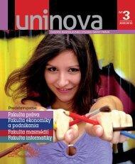 Uninova 3/2010 - Paneurópska vysoká škola