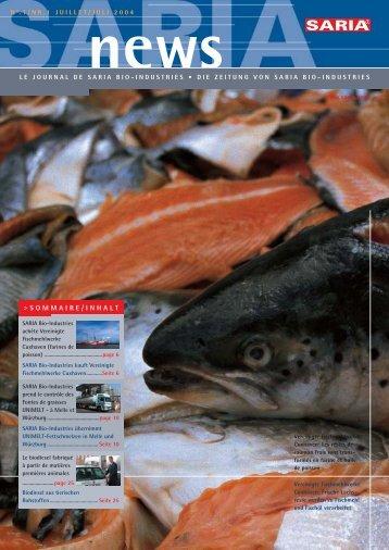 Saria News 1/04 - Saria Bio-Industries AG & Co. KG