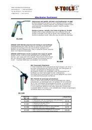Abschmier-Sortiment - v-tools