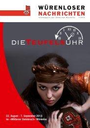 Download Würenloser Nachrichten 1/2013 - Gemeinde Würenlos