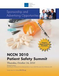 NCCN 2010 Patient Safety Summit - National Comprehensive ...