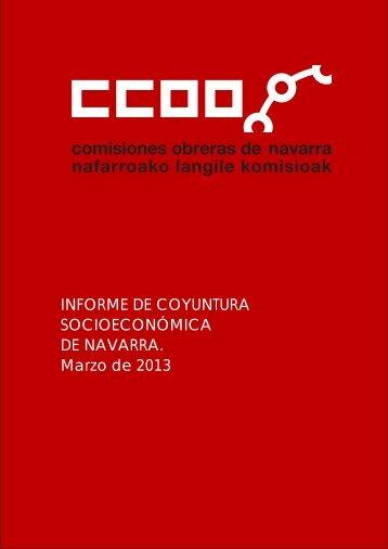 INFORME DE COYUNTURA SOCIOECONÓMICA DE ... - CCOO