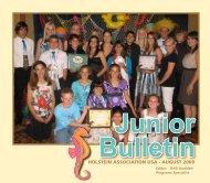 Junior Bulletin - August 2009 - Holstein Association