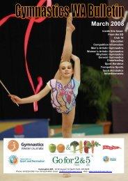 March Bulletin 2008.pdf - Gymnastics Western Australia