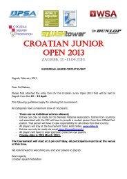CROATIAN JUNIOR OPEN 2013