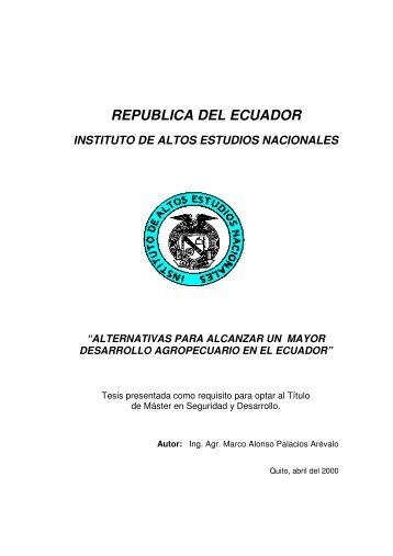 PALACIOS MARCO 2000.pdf - Repositorio Digital IAEN - Instituto de ...
