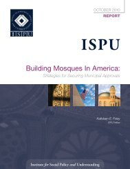 Building Mosques In America: - Institute for Social Policy and ...