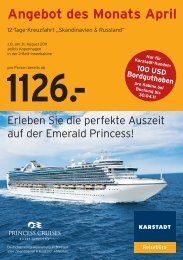 1126.- Angebot des Monats April - Karstadt Reisen