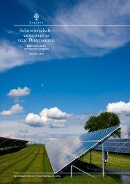 Solarwirtschaft – unterwegs in neue Dimensionen - Bank Sarasin ...