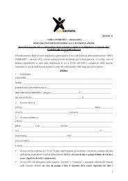 Domanda di partecipazione - Area Sanremo