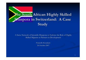 The South African Highly Skilled Diaspora in Switzerland: A Case ...