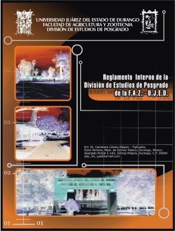 Reglamento de Posgrado - FAZ-UJED - Universidad Juárez del ...