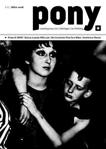 # 31   März 2008 readmypony.com   Göttingen   im Frühling Punk ...