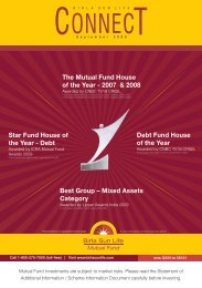 Connect for the Month of September 2009 - Birla Sun Life Mutual Fund